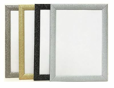 New Glitter Sparkle Dazzle Stardust Picture Frame Photo Frame Silver Gold