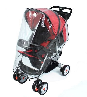 Waterproof Baby Rain Cover Wind Shield Fit Most Strollers Pushchairs Universal