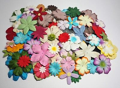 100 Assorted Handmade Mulberry Paper Flower Petals