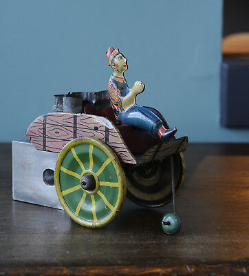 Vintage Marx Tin Toy Windup Hee Haw Man with Milk Cart Part