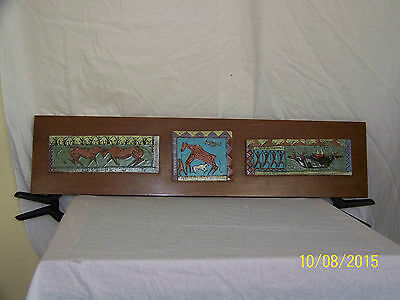 """Harris Strong Master Listed Ceramist Mid Century Hand Crafted Tiles """"COA"""""""