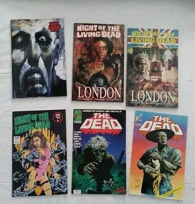 Lot of 6 comics/graphic novels. Night of the living dead & zombie horror themed