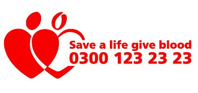 Give Blood Sticker Bikers Runners Transplant Donation Donate Serv 160mm x 2
