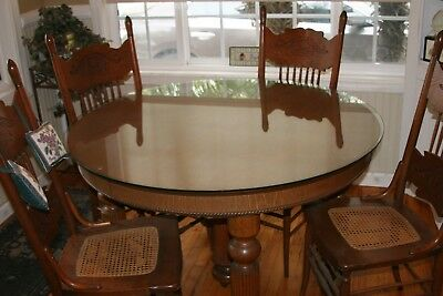 Antique oak table and chairs