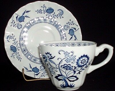 """Meakin, Blue Nordic, Classic White, 2 Pc Cup & Saucer (1) (3 Avail) """"perfect"""""""