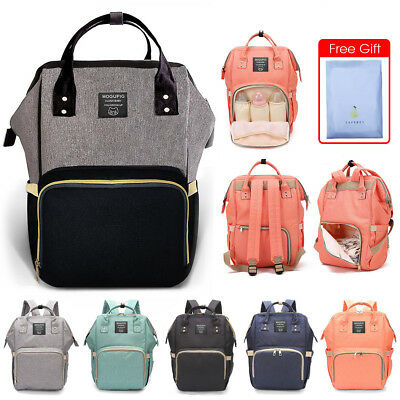 Luxury Multifunctional Mummy Nappy Diaper Bag Baby Travel Nursing Backpack