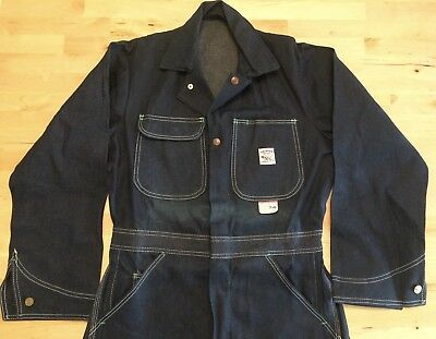 DEADSTOCK! Vintage POINTER Rockabilly Denim Coveralls Jumpsuit 34X34 Made in USA