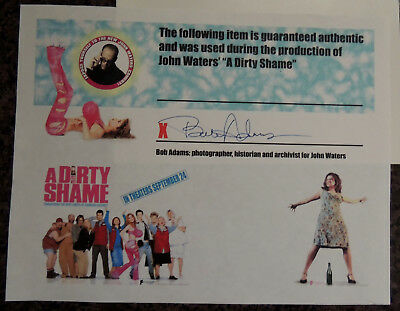 John Waters A Dirty Shame 4 movie props and movie premier ticket C of A