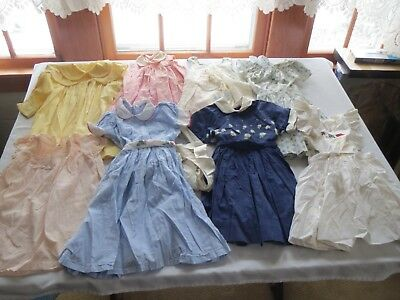 Lot 9 Vtg Clothes Early 1950s Girls & Toddlers Dresses ~NEIMAN M. JIBBY DURAND++