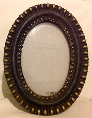 KWGY Antique Black Oval Picture Metal Frame