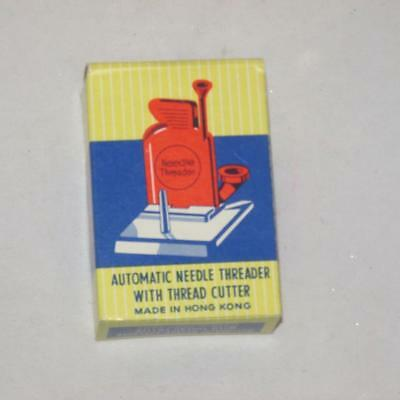 Vintage Sewing Advertising Lucite Automatic Needle Threader With Thread Cutter