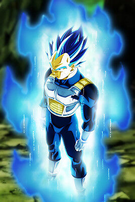 Dragon Ball Super Poster Vegeta Ultra Blue 12in x 18in Free Shipping