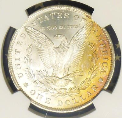 1885 O NGC & CAC Certified MS64 Silver Morgan Dollar, MS 64 $1, Color Tone Rev.
