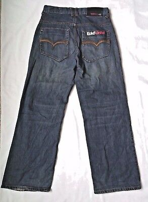 Ecko Unlimited Boys Jeans size 14 Adjustable Waist Relaxed Fit Straight Leg