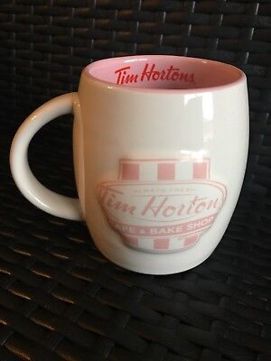 Tim Hortons Coffee Mug Pink Cafe And Bake Shop Limited Edition Red Cup
