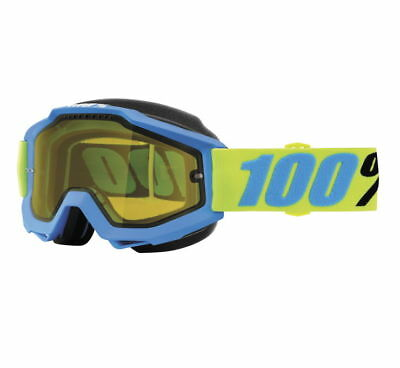 100% Accuri Snow Goggles Belize w/Yellow Lens 50203-231-02