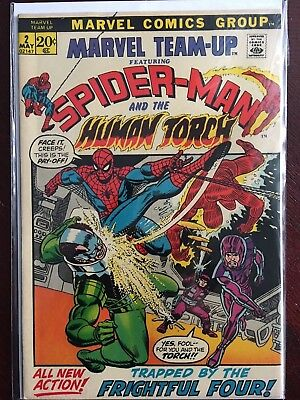 Marvel Team-Up #2 Spider-Man Human Torch 1972 Comics