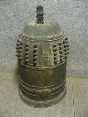 JAPANESE TEMPLE BELL BRONZE BUDDHIST  Height 55cm