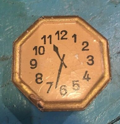 Vintage Cast Iron Metal Figural  CLOCK PENCIL SHARPENER Germany RARE Antique!