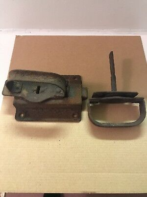 Vintage Barn Door Latch Handle Hardware Primitive Rusty