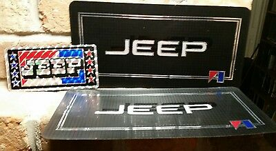"JEEP 6"" x 12"" License Plate Tag STICKER lot vtg Chroma Graphics 1980s 3""x6"" ford"