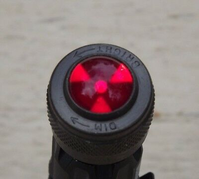 """Rare Vintage Dialco 3/4"""" Dimmable Red Panel Light Aircraft Steampunk 75w 125v"""