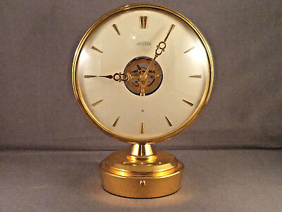 VINTAGE ANGELUS Dual Face  / Dial (double sided) 15 Jewel 8 Day Clock Desk Clock