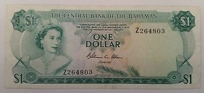 Bahamas dollar 1974. Fine. Rare replacement. Banknote world paper money
