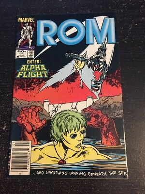 Rom#56 Awesome Condition 8.0(1984) Alpha Flight,Byrne Cover