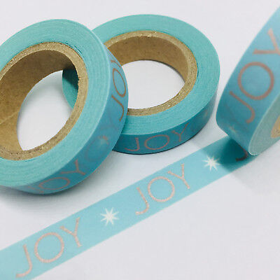 Washi Tape Thin Skinny Joy On Mint 10M Wide X 10Mt Roll Planner Craft Scrap Wrap