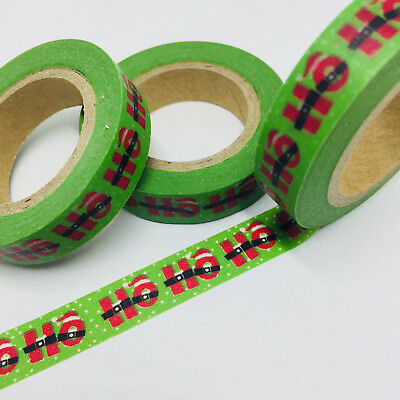 Washi Tape Thin Skinny Ho Ho Ho Christmas 10M Wide X 10Mt Plan Craft Wrap Scrap