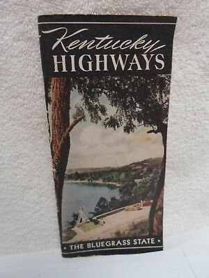 Antique 1941 Kentucky Road Map & Booklet * Map is unused *