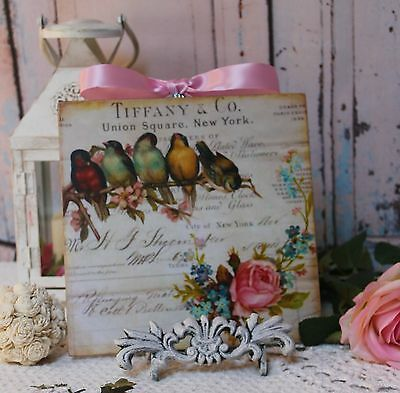 """Birds & Roses..."" ~ Shabby Chic Vintage Country Cottage style Wall Decor. Sign"