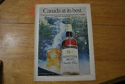 Canadian Mist Whisky 1974 Playboy Magazine ad - Excellent