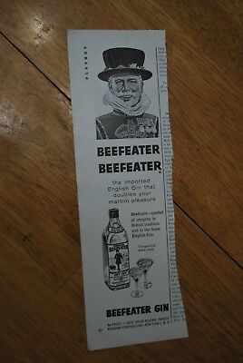 Beefeater Gin 1963 Playboy Magazine ad - Very Good