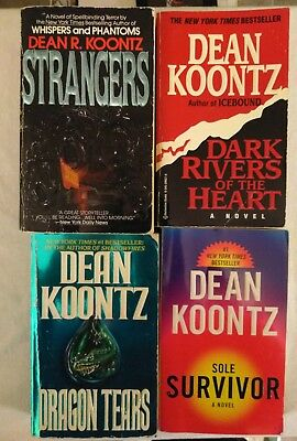 Dean Koontz. 4 book horror lot. Horror. Fantasy. Suspense. Paperback