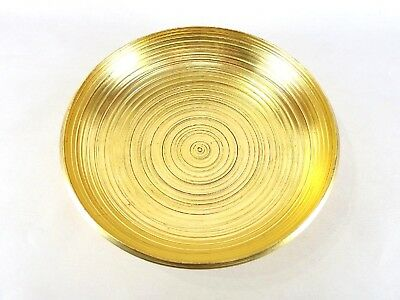 Japanese antique vintage gold lacquer wood round Kashiki sweets bowl chacha