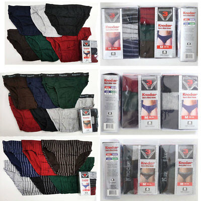 6pcs Lot  Knocker Mens Bikini Briefs Boxer Underwear Solid, Stripe, TBand S-XL