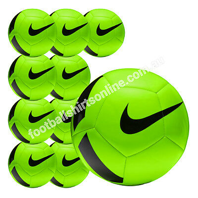 FOOTBALL 10 x NIKE PITCH BALLS (SIZES 3 ,4 & 5) ELECTRIC GREEN $19.99 per ball