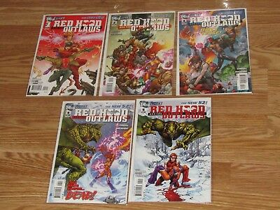 Red Hood and the Outlaws New 52 1 2 3 4 5 Comic Lot Run Set 1st Print