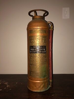 Antique/Vintage Fastfome Copper and Brass Fire Extinguisher - ORE