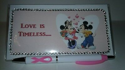Mickey & Minnie Love is Timeless Checkbook Cover with Free Awareness Pen