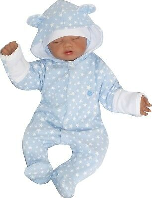 Overall 100% Cotton One Piece Romper Hoodie Jumpsuit Ears 56 62 68 74 80
