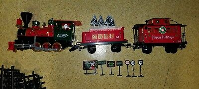 Vtg 2001 LIONEL HOLIDAY SPECIAL Santa Christmas Large G Scale TRAIN SET