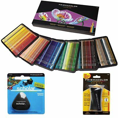 Prismacolor Colored Pencils Box of 150 Assorted Colors + Eraser & Sharpener