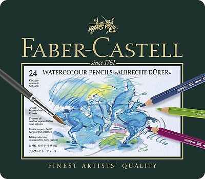 Faber-Castel Albrecht Durer Artist Watercolor Pencils Tin (24 Pack, FC11752)