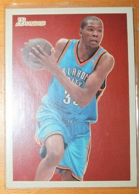 2009-10 Bowman 48 Kevin Durant lot of 2 Cards (BV 7,50 $) one is #ed 1702/1948