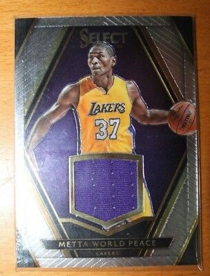 2015-16 Select Swatches Metta World Peace Ron Artest No.27 #ed 086/149 JSY Patch