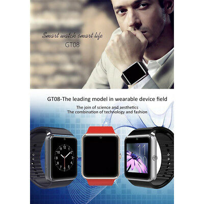 GT08 Reloj Inteligente Bluetooth Smart Watch SmartWatch para Android IOS