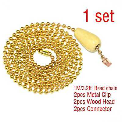 DIY Lamp pull chain switch bead chain decoration bead Line With Connector Buckle